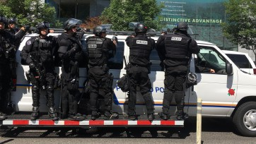 Police in Portland, Oregon