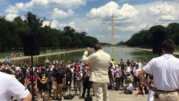 Richard Spencer at the Lincoln Memorial