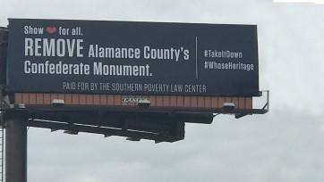 Confederate removal billboard campaign, may, 2021