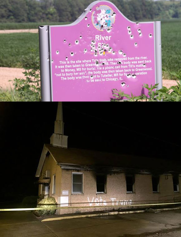 Emmett Till Marker, Church Burning Mississippi