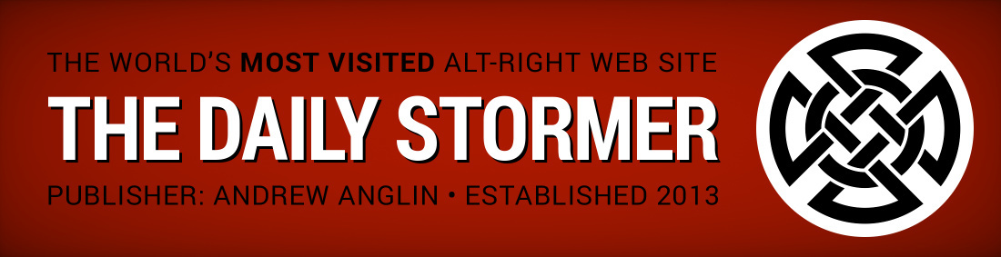 Daily Stormer banner Alt-Right website