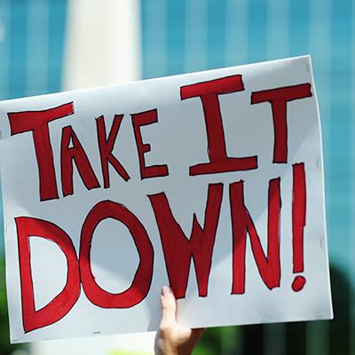 take it down sign